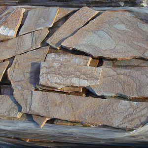 karystos brown polygon stones
